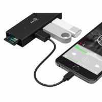 Aeroc ASA Adapter USB Type C Adapter to  3 USB 3.0 Ports and SD Card Reader