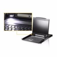 Aten CL-1000NA Rackmount USB-PS2 VGA Single Slideaway 19inchh LCD KVM Console