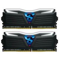 GeIL 16GB Kit (2x8GB)GLW416GB3000C16DC DDR4 Super LUCE C16 3000MHz Black Heatsink White Led