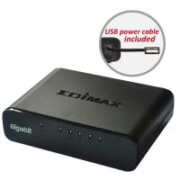 Edimax ES-5500G V3 5-Port Gigabit Switch with USB Power Cable