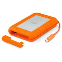 LaCie 4TB Rugged 2.5 in USB 3.1 C USB C AND C TO A Cable Incl