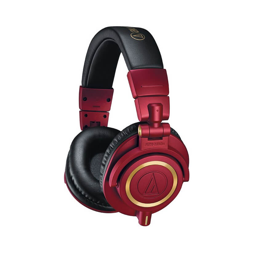 Audio-Technica ATH-M50X Professional Studio Headphones Red Limited Edition