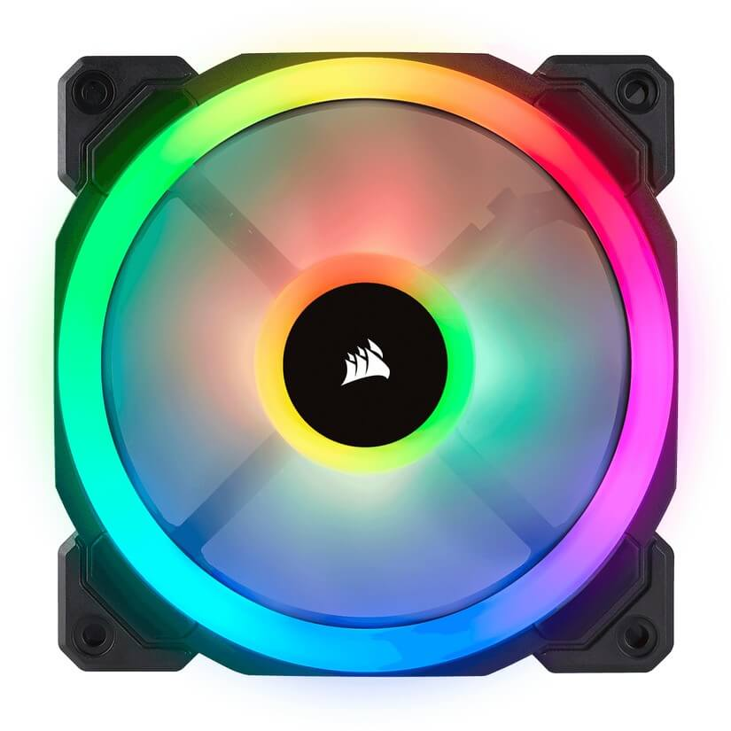 Corsair LL140 Dual Light Loop, Single 140mm RGB LED PWM Fan