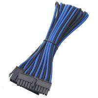 BitFenix Sleeved 24-Pin ATX Extension Cable, 45CM, Blue/BLACK