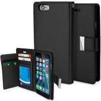 Mercury Rich Diary Wallet case Black for iPhone 6 +