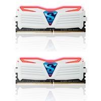 GeIL 16GB Kit (2x8GB)GLWR416GB240016DC DDR4 Super LUCE  White Heatsink RED Led