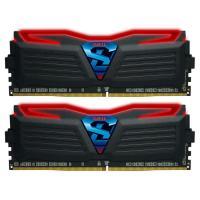 GeIL 16GB Kit (2x8GB)GLR416GB240016DC DDR4 Super LUCE Black Heatsink RED Led