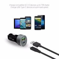 mBeat QuickBoost QC 2.0 Type C Dual Port Car Charger