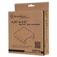 "SilverStone 5.25"" to 3.5""/2.5"" Bay Converter - Black"