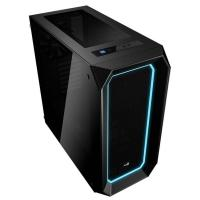Aerocool P7-C0 Black Mid Tower Case 10 color LED Double Sides Tempered Glass