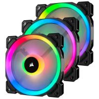 Corsair LL120 Dual Light Loop, Triple Pack 120mm RGB LED PWM Fan with Lighting Node Pro