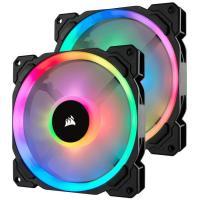 Corsair LL140 Dual Light Loop, Twin Pack 140mm RGB LED PWM Fan with Lighting Node Pro