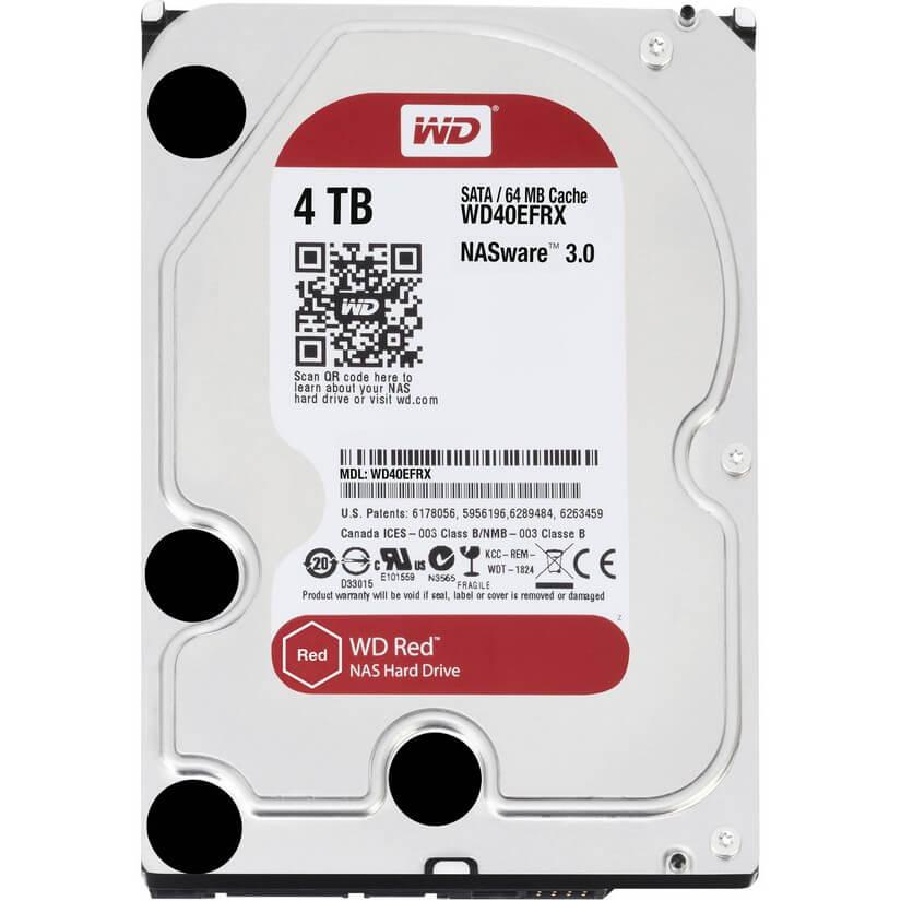 Western Digital 4TB Red NAS SATA 3.5in Hard Drive (WD40EFRX)