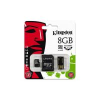 Kingston 8GB Multi Mobility Kit Class 4 MicroSD Card