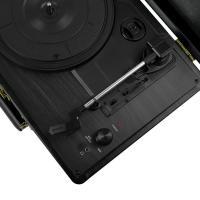 mBeat Woodstock Black Retro Turntable Player