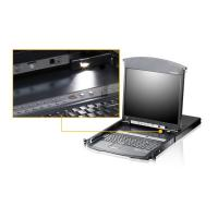 "Aten 8-Port Cat 5 Dual Rail 19"" LCD KVM over IP Switch with Daisy-Chain Port"