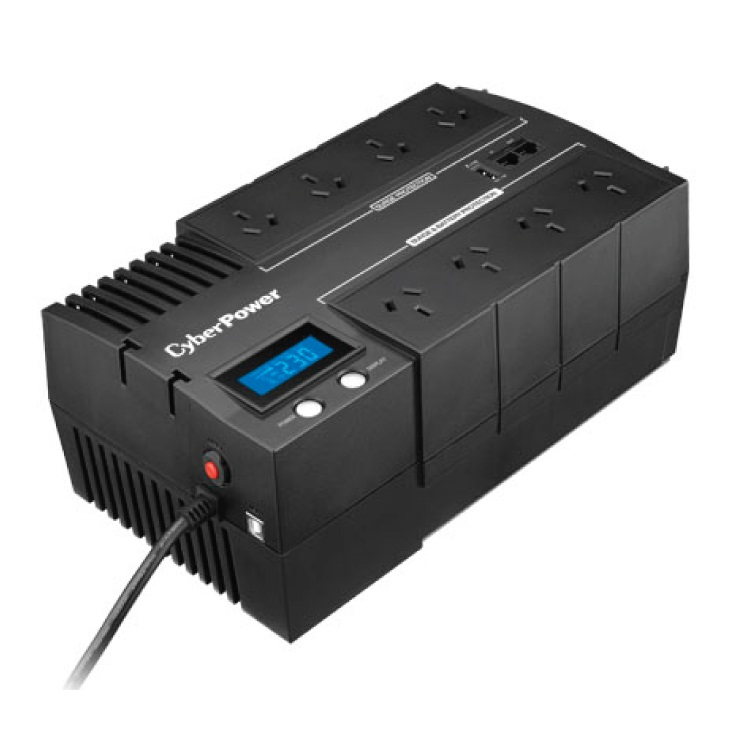 CyberPower BRIC-LCD 1000VA/600W (10A) Line Interactive UPS - (BR1000ELCD) 2 Yrs Wty