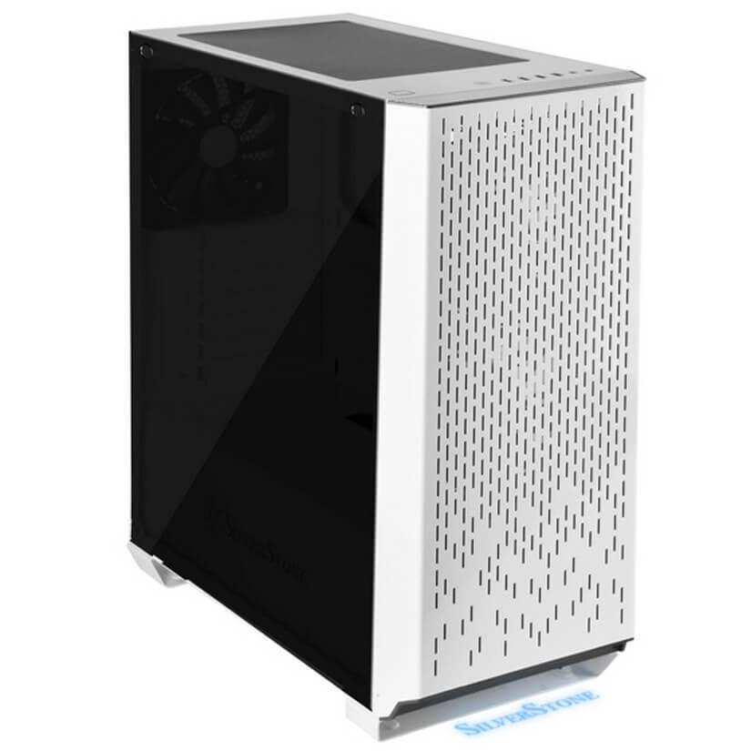 Silverstone PM02W-G Primera White Tempered Glass ATX Case No PSU