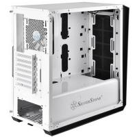 SilverStone RL07W-G Redline White Tempered Glass  ATX Case
