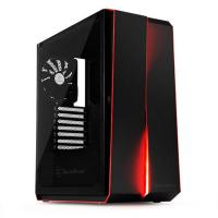 SilverStone RL07B-G Redline Black Tempered Glass  ATX Case