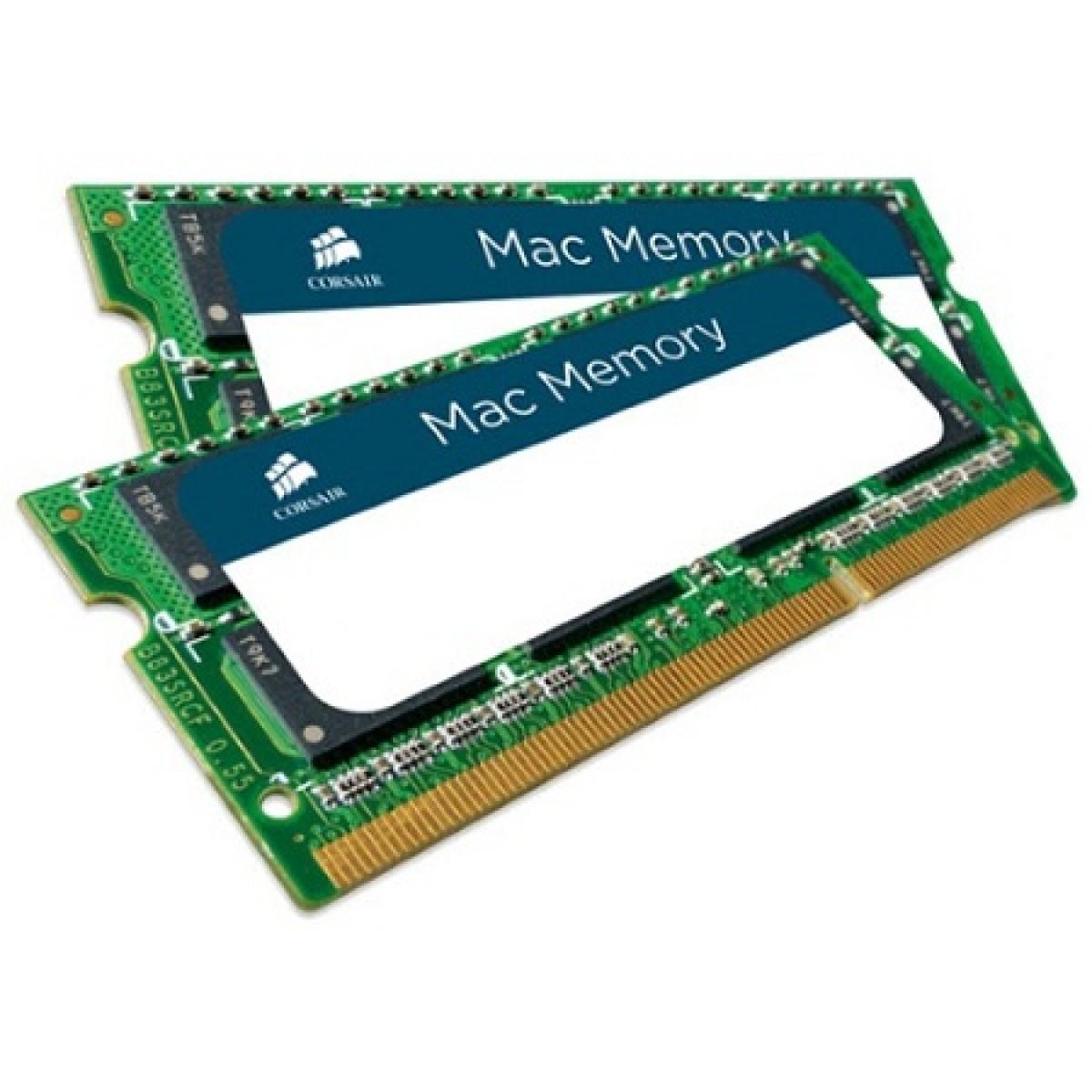 Corsair 16GB CMSA16GX3M2A1333C9 Mac Memory, 1333MHz CL9 DDR3 SO-DIMM ...