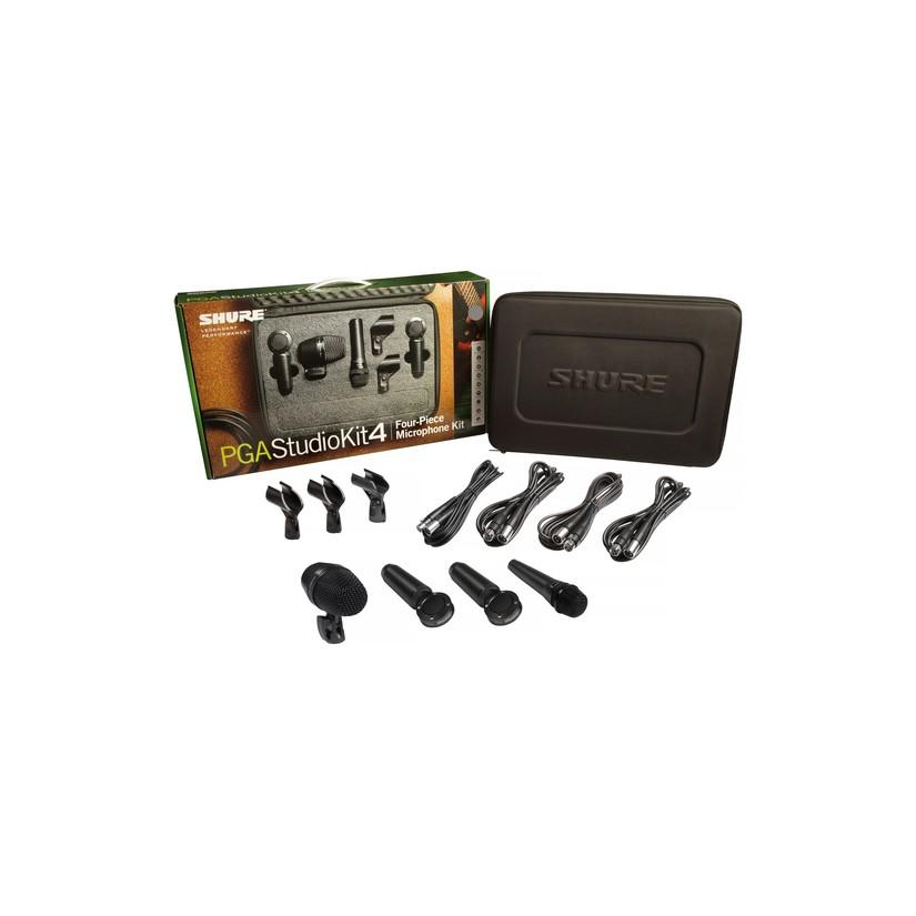 Shure PGA 4pcs Studio Kit 1xPGA52 1xPGA57 2xPGA181Adapter Cable Carry Case