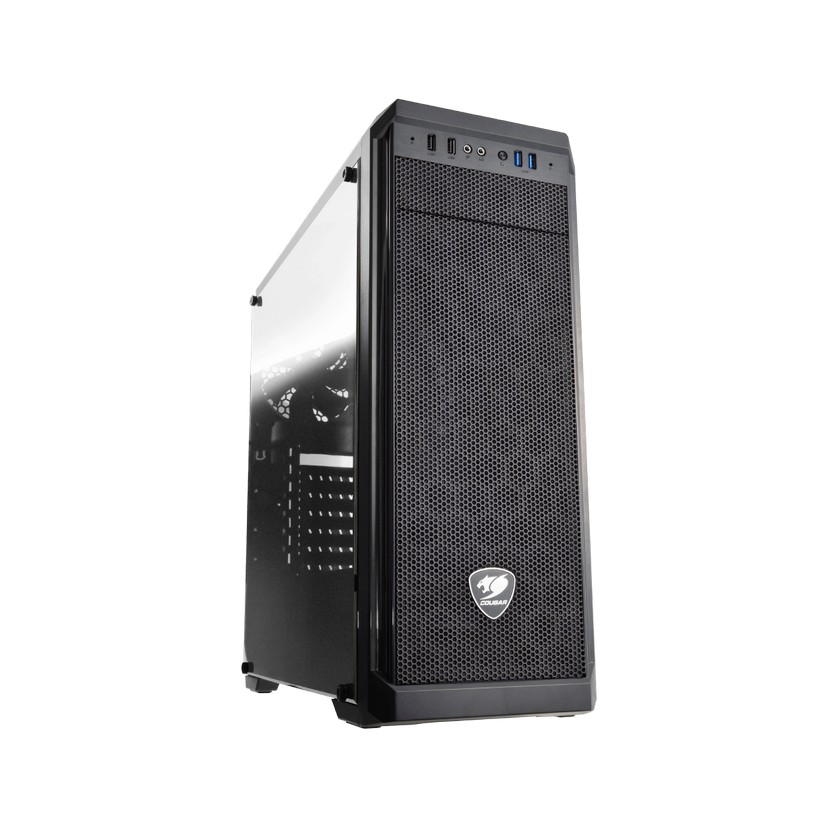 Cougar MX330-G Midi Tower case Tempered Glass side