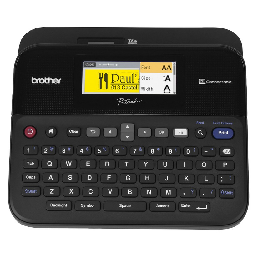 Brother PT-D600 PC Connectable Portable P Touch Labeller Color Display