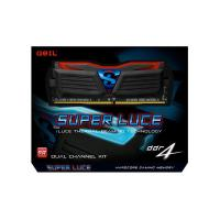 GeIL 16GB Kit (2x8GB)GLB416GB240016DC DDR4 Super LUCE  Black Heatsink Blue Led