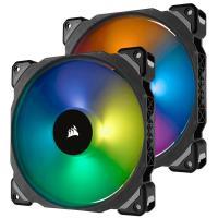 Corsair ML140 PRO RGB 140mm Premium Magnetic Levitation RGB LED PWM Twin Fan Pack