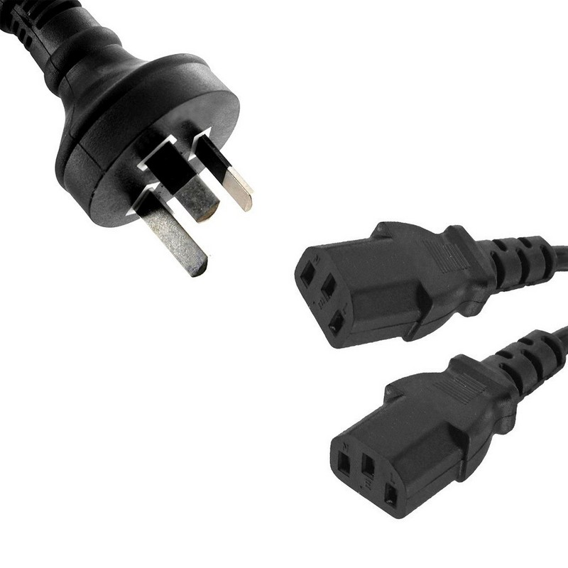FUJITSU AU POWER CORD, 3 PIN 2M - (FOR FUJITSU DESKTOPS, MONITORS AND SERVERS) BLACK