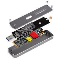 Silverstone SST-MS09B M.2 SATA SSD (B Key) USB3.1 External Enclosure