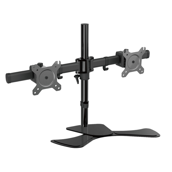 VisionMount Free Standing Dual LCD Monitors Support up to 27in Tilt -15/+15° Rotate 360° (VM-LCD-MP320S)