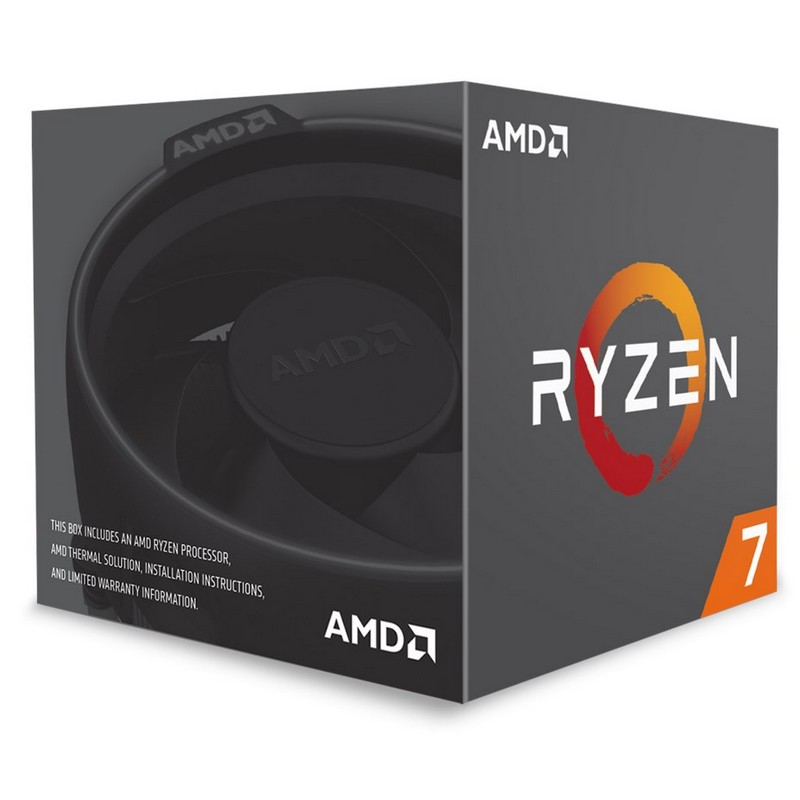 22241030e0a AMD Ryzen 7 2700 8-Core Socket AM4 3.2GHz CPU Processor with Wraith Spire  LED Cooler