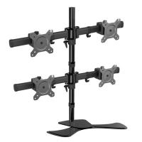 Vision Mounts Free Standing Four LCD Monitors Support up to 27in Tilt -15/+15° Rotate (VM-LCD-MP340S)