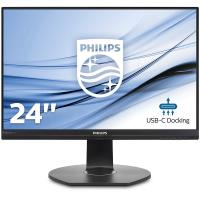 Philips 241B7QUPBEB 24in IPS 1920X1080 5MS VGA/DP/HDMI/USB-C Speakers USB-C Docking SmarterGobase VE
