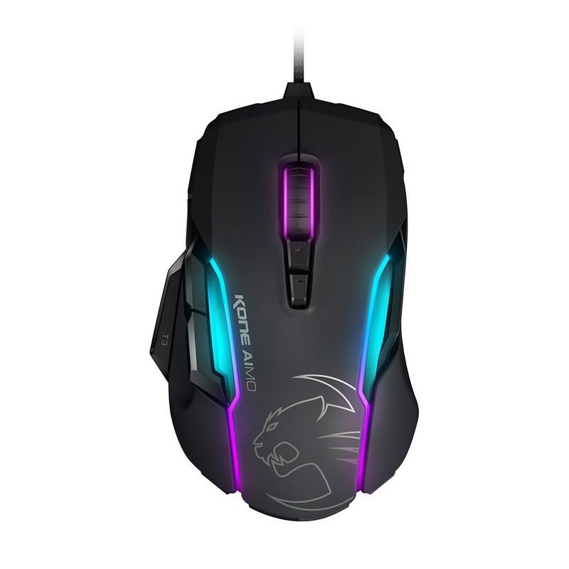 Roccat KONE AIMO RGBA Smart Customization Gaming Mouse - Black