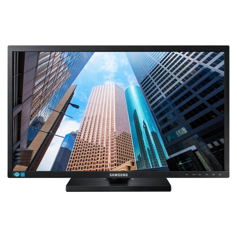 "Samsung E45 24"" WIDE(16:9) LED, 1920x1080, 5MS, D/SUB, DVI, DP, H/ADJ, VESA, 3YR computer monitor 61 cm (24"") Full HD Flat Black"
