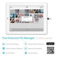 Silicon Power 64GB Z50 OTG Flash Drive for iPhone & iPad - Lightning/USB 3.1 Gen1