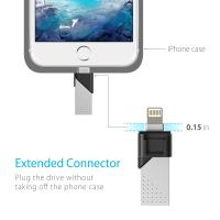 Silicon Power 128GB Z50 OTG Flash Drive for iPhone & iPad (Lightning/USB 3.1 Gen1)