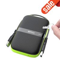 Silicon Power 2TB A60 Shockproof & Water-resistant External Hard Drive (USB 3.0)
