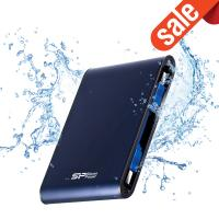 Silicon Power 1TB A80 Shockproof & IPX7 Waterproof,Pressure Resistance External Hard Drive-Blue (USB 3.0) for PC,MAC,XBO