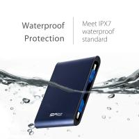 Silicon Power 2TB A80 Shockproof & IPX7 Waterproof,Pressure Resistance External Hard Drive-Blue (USB 3.0) for PC,MAC,XBO