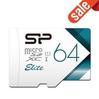 Silicon Power Elite 64GB microSDXC UHS-1 Memory Card - 85MB/s with Adapter