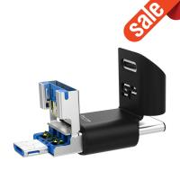 Silicon Power 64GB C50 3 in 1 OTG Flash Drive (Type-C, Micro B and Type-A)
