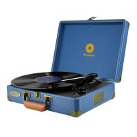 mBeat Woodstock Blue Retro Turntable Player