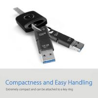 Silicon Power C50 128GB 3 in 1 OTG Flash Drive -Type-C, Micro B and Type-A
