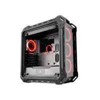 Cougar Panzer-EVO Full Tower Tempered Glasses & 4 x Ring Red LED Fans
