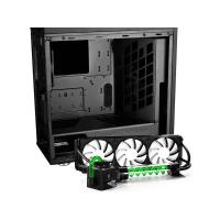 Deepcool Genome Mid Tower Case w Integrated 360mm LCS Black Green Helix