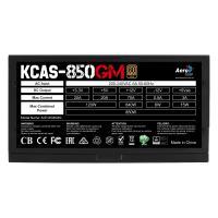 Aerocool KCAS 850GM PSU RGB effects 850W ATX12V Ver.2.4 4x PCIe 6+2pin  7x SATA 12cm OVP/UVP/OPP/SCP